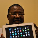 Lehlokoe with Seemahale's 10-inch tablet