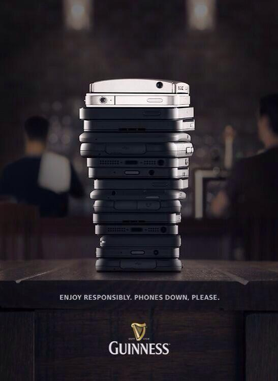 guiness ad - no phones