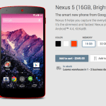 Google makes red Nexus 5 official