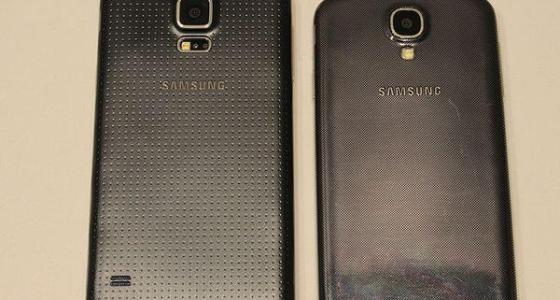The Galaxy S5 seen here in this leaked image alongside the Galaxy S4, its immediate predecessor