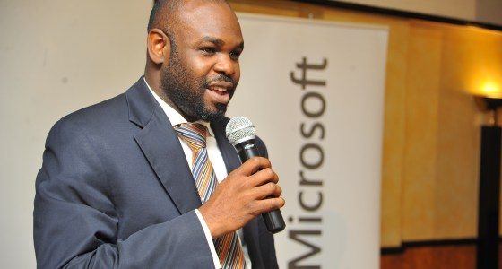 Kunle Awosika, Microsoft Country Manager speaking at the launch of Kenya's cloud computing report