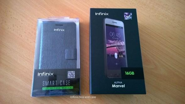 Infinix box and case