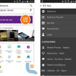 OLX App navigation