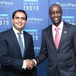 Airtel Kenya CEO Adil El Youssefi makes a hadshake with Sportpesa CEO Ronald Karauri enabling bettors in Kenya to do sports betting using Airtel Money FREE of charge.