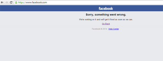 Facebook is Down 2014
