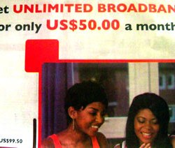 Unlimited Broadband Advert