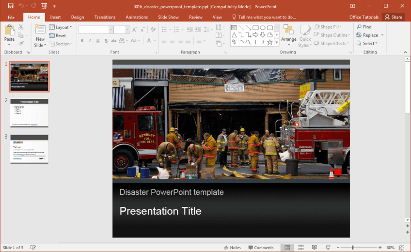 free-disaster-powerpoint-template