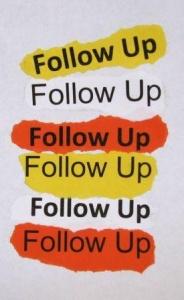 FOLLOW UP Qual E O Significado De FOLLOW UP