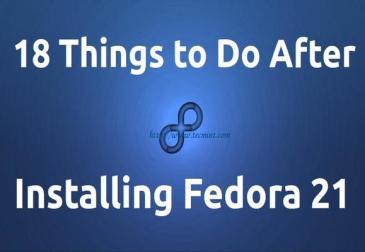 18 to do`s nadat je Fedora 21 hebt geinstalleerd (afbeelding van tecmint.com)