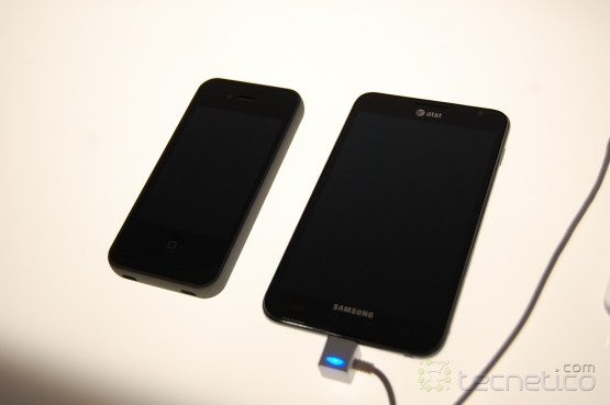 Samsung Galaxy Note y el iPhone 4S de AT&T