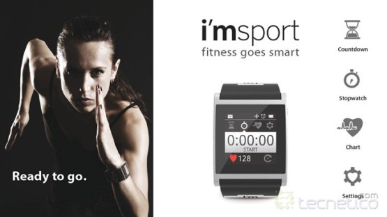 Sistema i'msport para monitorear ejercicio con i'mwatch (Foto: i'mwatch)