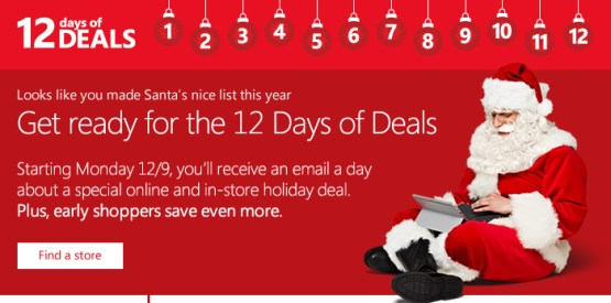 Microsoft Store - 12 days of deals