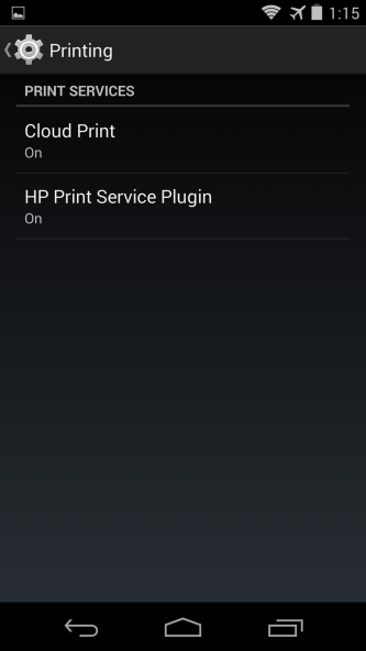 Google Cloud Print en Android 4.4 Kit Kat