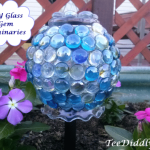 DIY Solar Glass Gem Luminaries for the Garden