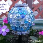 DIY Solar Glass Gem Luminaries for the Garden