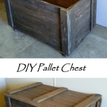 DIY Rustic Pallet Wood Storage Chest