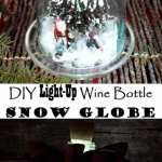 DIY Light-Up Wine Bottle Snow Globe