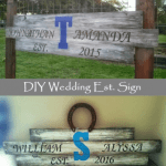 DIY Rustic Wedding Established Sign