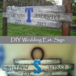 DIY Rustic Wedding Established Sign