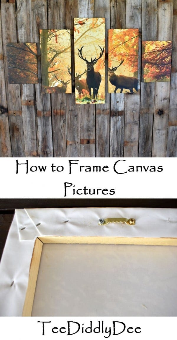 how to frame canvas pictures teediddlydee