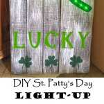 St. Patty's Day Light-Up Pallet Sign