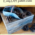 Make an easy DIY pallet crate for decor