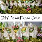 DIY Picket Fence Crate