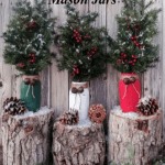 DIY Farmhouse Christmas Mason Jars