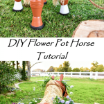 DIY Clay Horse Flower Pot Tutorial