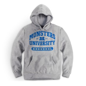 Monsters University Grey Hoodie