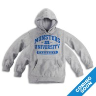 Monsters University Grey Hoodie 4 Sleeves