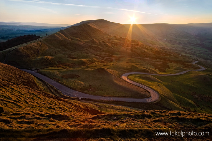 Rushup Edge, Mam Tor and the Easter Monday sunset