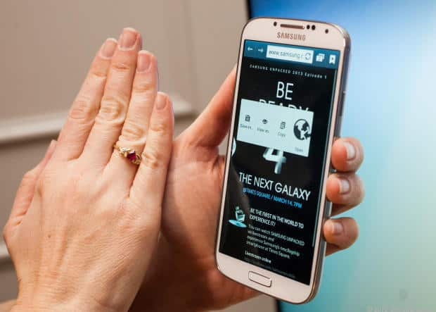 Controle o smartphone com movimentos
