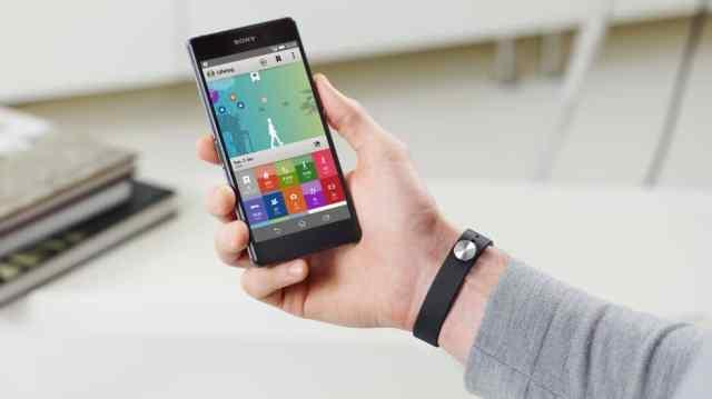 Xperia Z2 - smartband