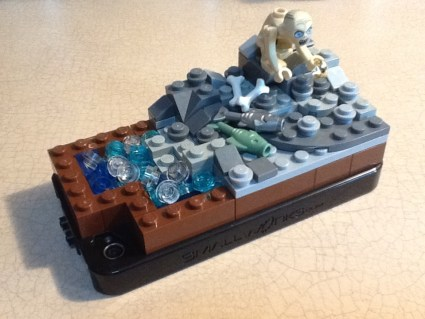 Gollum's Cave on Smallworks Lego Brickcase