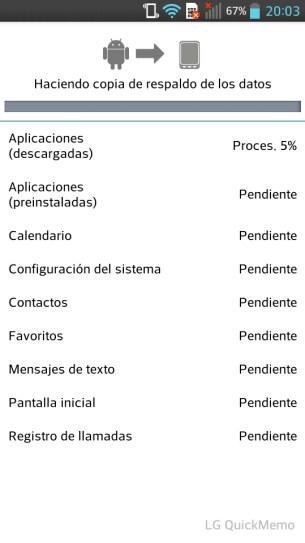 LG Optimus L9: App Backup