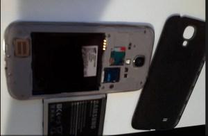 Samsung Galaxy S4 chamuscado