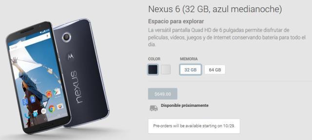 Nexus 6 Reserva