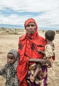 Aisha Nor with her children