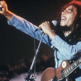 Bob Marley on stage at Grona Lund, Stockholm, Sweden