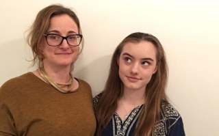 Jennifer Stiens and her teenage daughter Chloe are both marching for the first time on Saturday
