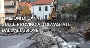 I danni sulle provinciali devastate dall'alluvione – Provincia di Genova