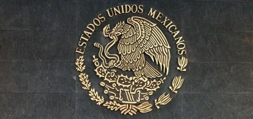 Escudo mexicano en la Residencia Oficial de los Pinos, Ciudad de México. Imagen: Presidencia de México.