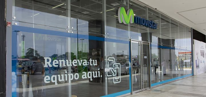 Fachada de tienda en Piura, Movistar Perú. Imagen: Telefónica del Perú