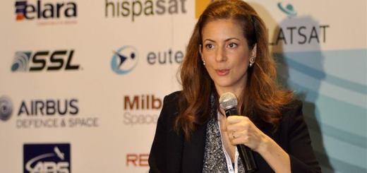 Mónica Aspe Bernal en Latsat 2014. Imagen: SCT