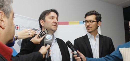 El secretario de Comunicaciones, Noberto Berner y Nicolas Karavaski, subinterventor de la CNC tras la licitación de espectro. Imagen: Secom