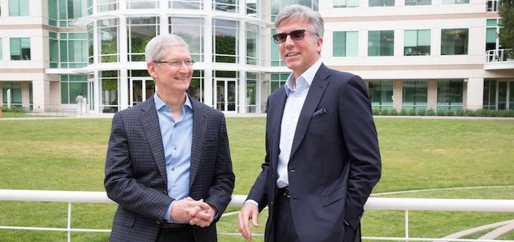 Tim Cook, CEO de Apple y Bill McDermott, SAP CEO - Foto de Apple/Roy Zipstein