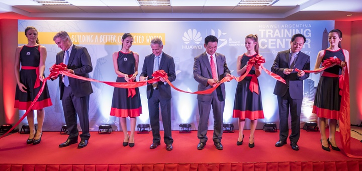 Inauguración del Huawei Training Center en Buenos Aires. Imagen: Huawei