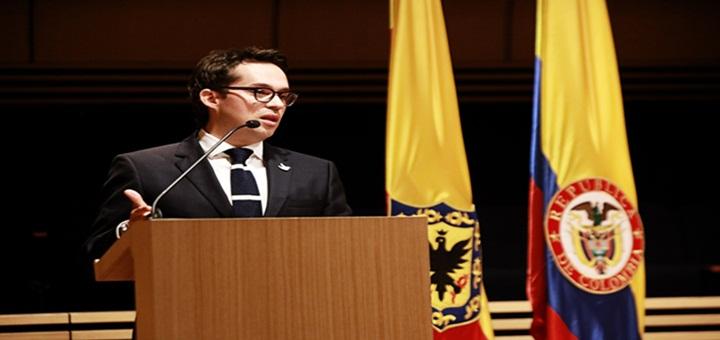 Juan Sebastian Rozo se posesionó como Viceministro de TIC. Imágen: Mintic.