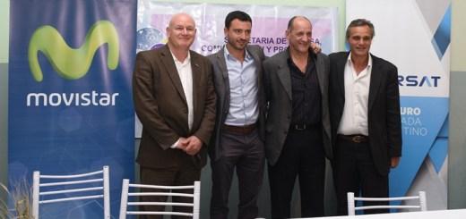 Arsat y Movistar firmaron acuerdo en Rio Negro.